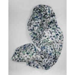Pañuelos Seda Gris y Verde
