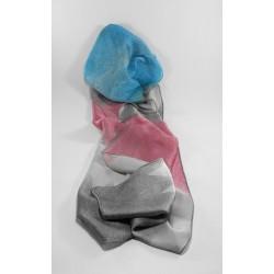 Pañuelos Seda Rosa Azul